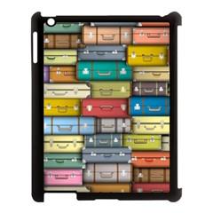 Colored Suitcases Apple Ipad 3/4 Case (black) by Jojostore