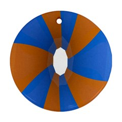Curve Blue Orange Ornament (round)  by Jojostore