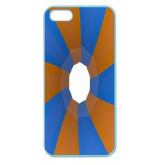 Curve Blue Orange Apple Seamless Iphone 5 Case (color) by Jojostore