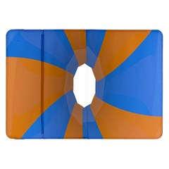 Curve Blue Orange Samsung Galaxy Tab 8 9  P7300 Flip Case by Jojostore