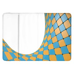 Curve Blue Yellow Samsung Galaxy Tab 8 9  P7300 Flip Case by Jojostore