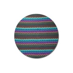 Chevron Wave Magnet 3  (round) by Jojostore