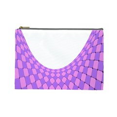 Curve Purple Pink Wave Cosmetic Bag (large)  by Jojostore
