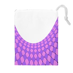 Curve Purple Pink Wave Drawstring Pouches (extra Large) by Jojostore
