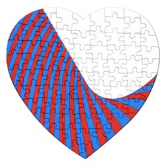 Curve Red Blue Jigsaw Puzzle (heart) by Jojostore