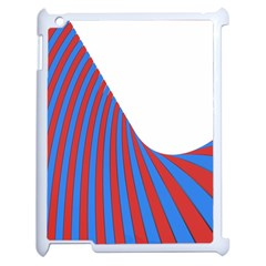Curve Red Blue Apple Ipad 2 Case (white)