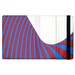 Curve Red Blue Apple Ipad 2 Flip Case by Jojostore