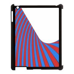 Curve Red Blue Apple Ipad 3/4 Case (black) by Jojostore