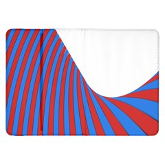 Curve Red Blue Samsung Galaxy Tab 8 9  P7300 Flip Case by Jojostore