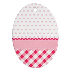 Cute Cartoon Decorative Pink Ornament (oval)  by Jojostore