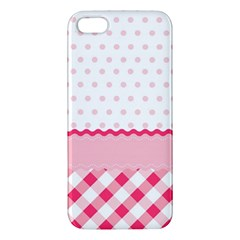 Cute Cartoon Decorative Pink Apple Iphone 5 Premium Hardshell Case by Jojostore