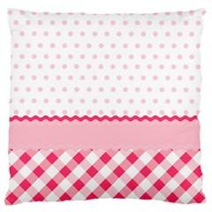 Cute Cartoon Decorative Pink Standard Flano Cushion Case (one Side)