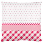 Cute Cartoon Decorative Pink Standard Flano Cushion Case (One Side) Front