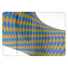 Curve Yellow Blue Samsung Galaxy Tab 8 9  P7300 Flip Case by Jojostore