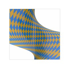 Curve Yellow Blue Small Satin Scarf (square) by Jojostore