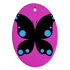 First Butterfly Pink Ornament (oval)  by Jojostore
