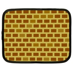 Tessellated Rectangles Lined Up As Bricks Netbook Case (xxl)  by Jojostore