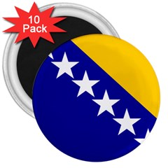 Coat Of Arms Of Bosnia And Herzegovina 3  Magnets (10 Pack)  by abbeyz71