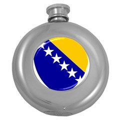 Coat Of Arms Of Bosnia And Herzegovina Round Hip Flask (5 Oz) by abbeyz71