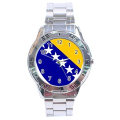 Coat Of Arms Of Bosnia And Herzegovina Stainless Steel Analogue Watch by abbeyz71
