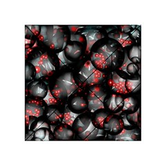 Black And Gray Texture With Bright Red Beads Acrylic Tangram Puzzle (4  X 4 ) by Jojostore