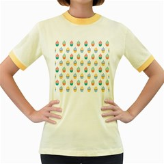 Cup Cake Women s Fitted Ringer T-Shirts by Jojostore