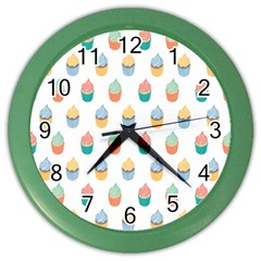 Cup Cake Color Wall Clocks by Jojostore