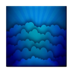 Blue Sky Jpeg Tile Coasters by Jojostore