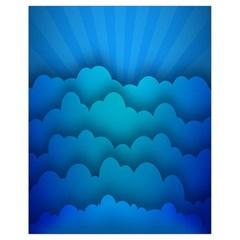 Blue Sky Jpeg Drawstring Bag (small) by Jojostore