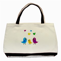 Bird Family Basic Tote Bag by Valentinaart