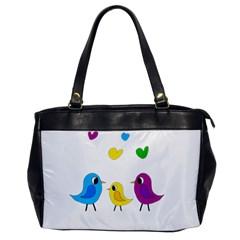 Bird Family Office Handbags by Valentinaart