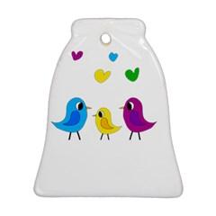 Bird Family Ornament (bell)  by Valentinaart
