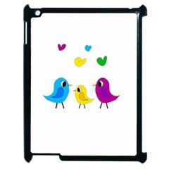 Bird Family Apple Ipad 2 Case (black) by Valentinaart