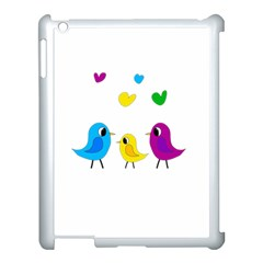 Bird Family Apple Ipad 3/4 Case (white) by Valentinaart