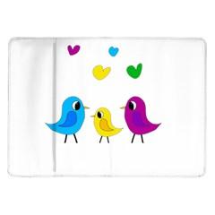 Bird Family Samsung Galaxy Tab 10 1  P7500 Flip Case by Valentinaart