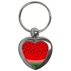 Watermelon  Key Chains (heart)  by Valentinaart