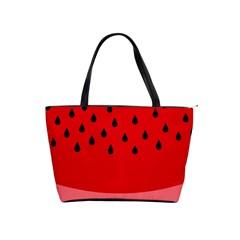Watermelon  Shoulder Handbags by Valentinaart