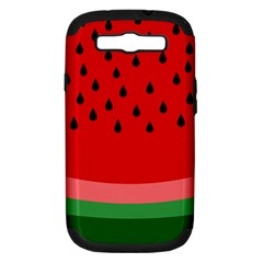 Watermelon  Samsung Galaxy S Iii Hardshell Case (pc+silicone) by Valentinaart
