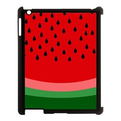 Watermelon  Apple Ipad 3/4 Case (black) by Valentinaart