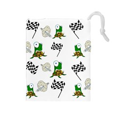Speed Drawstring Pouches (large)  by Valentinaart