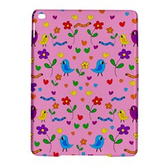 Pink Cute Birds And Flowers Pattern Ipad Air 2 Hardshell Cases by Valentinaart