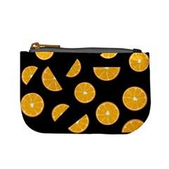 Oranges Pattern   Black Mini Coin Purses by Valentinaart