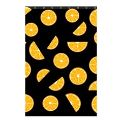 Oranges Pattern   Black Shower Curtain 48  X 72  (small)  by Valentinaart
