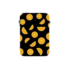 Oranges Pattern   Black Apple Ipad Mini Protective Soft Cases by Valentinaart