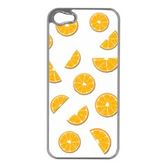 Oranges Apple Iphone 5 Case (silver) by Valentinaart