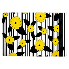 Yellow Floral Pattern Ipad Air Flip by Valentinaart