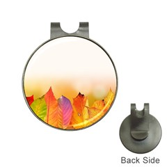 Autumn Leaves Colorful Fall Foliage Hat Clips With Golf Markers by Amaryn4rt
