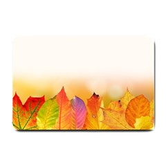 Autumn Leaves Colorful Fall Foliage Small Doormat  by Amaryn4rt