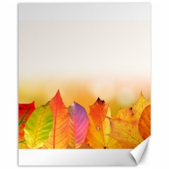 Autumn Leaves Colorful Fall Foliage Canvas 11  X 14   by Amaryn4rt