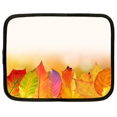 Autumn Leaves Colorful Fall Foliage Netbook Case (large) by Amaryn4rt